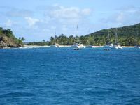 Mayreau, Salt Whistle Bay in der Vorsaison